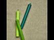 Kép 4/7 - RAINBOW gyertya világoszöld 17cm