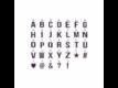 Kép 5/7 - WORD UP betű tábla 30x30 fehér/világoskék