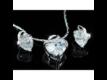 Kép 5/5 - Exclusive Swarovski kristályos szett szív alakú kővel, díszdobozban