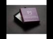 Kép 3/3 - Swarovski® kristályos ékszerszett - Helios 20 mm, Indicolite + díszdoboz