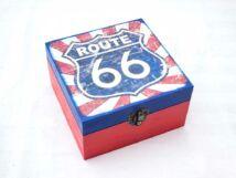 Route 66 nagy ékszertartó fa doboz