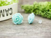 Nagy világos kék színű rózsa fülbevaló