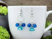Kék kristályos harangvirág fülbevaló
