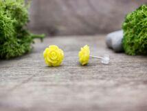 Sárga színű rózsa fülbevaló