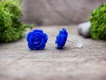 Kék rózsa fülbevaló