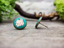 Rorschach rozé zöld színű beton beszúrós fülbevaló