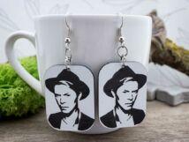 David Bowie lézer gravírozott plexi fülbevaló