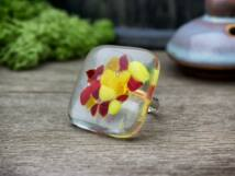 Lángoló jég üveg gyűrű