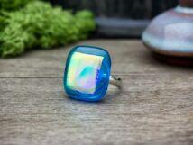 Kék tenger üveg gyűrű