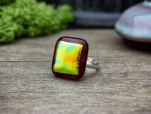 Pinky üveg gyűrű