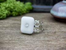 Kristály a hóban üveg gyűrű