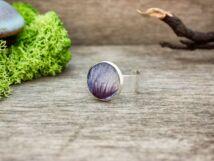 Kék mályva műgyanta gyűrű