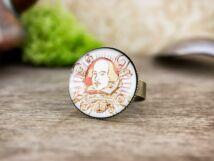 Üveglencsés William Shakespeare gyűrű