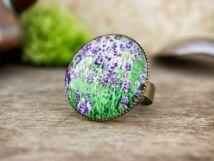 Üveglencsés levendula gyűrű