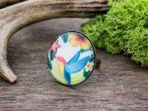 Üveglencsés trópusi kolibri gyűrű