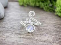 Opalit ezüst színű drót gyűrű