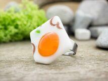 Narancssárga lélek szilánk üveg gyűrű