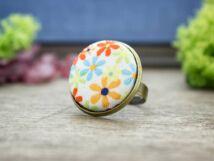 Nyári kertem textil gombos gyűrű