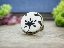 Téli kertem textil gombos gyűrű