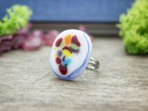 Színvilág üveg gyűrű