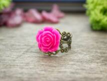 Magenta rózsás gyűrű