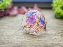 Rózsaszín ragyogás műgyanta gyűrű