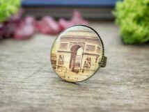 Üveglencsés Párizsi Diadalív gyűrű