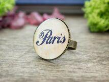 Üveglencsés szeretlek Paris gyűrű