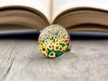Üveglencsés napraforgó gyűrű