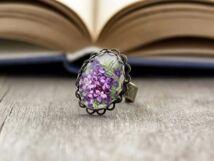 Üveglencsés ibolya gyűrű