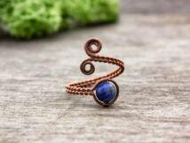 Szodalit drót gyűrű