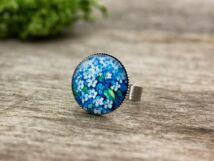 Üveglencsés hortenzia gyűrű
