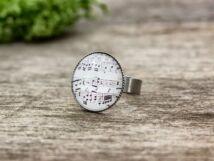 Üveglencsés szeretem a zenét ezüst színű gyűrű