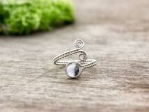 Achát ezüst színű drót gyűrű