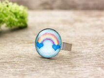 Üveglencsés szivárvány gyűrű