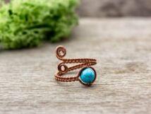 Türkiz drót gyűrű
