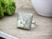 Tündérpor műgyanta gyűrű