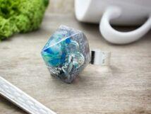 Orgonit műgyanta gyűrű ásványtörmelékkel