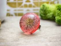 Kívánság pitypang gyantába zárva műgyanta gyűrű