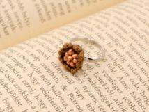 Horgolt barna gyerek gyűrű