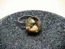 Műgyanta préselt virágos nature gyűrű
