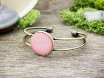 Tiszta romantika rózsaszín beton karperec