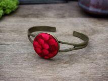 Vörös ribiszke textil gombos karperec