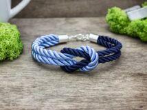 Vitorlát feszíts kék színű paracord karkötő