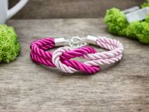 Vitorlát feszíts rózsaszín színű paracord karkötő