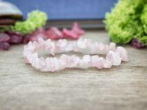 Szerető rózsakvarc szemcse ásvány karkötő