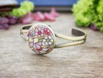 Ólomüveg textil gombos karperec