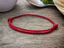 Kabbala védelmező vörös paracord karkötő