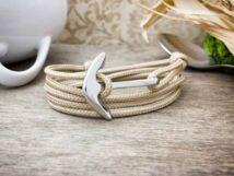 Tengerparti homok horizont acél horgony paracord karkötő