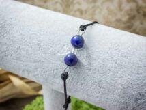 Nyitottság angyal lápisz lazuli microcord karkötő